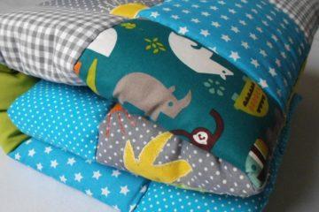 Babydecke mit Tiermotiven