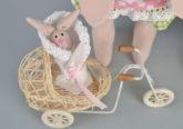 Handmade Stofftiere Hasenfamilie Set Geschenk